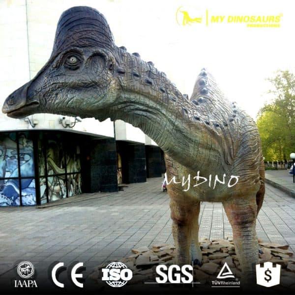 Life size Amurosaurus dinosaur statue