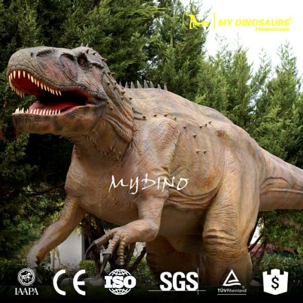 amusement park mechanical dinosaur