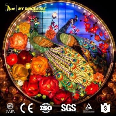 Chinese lantern Peacock