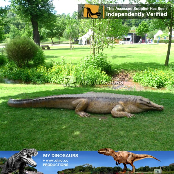 outdoor statues carnival animatronic crocodile for sale