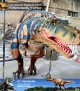 realistic dinosaur costume for jurassic theme park