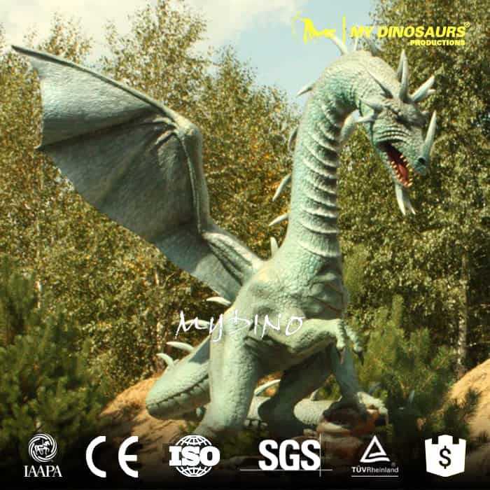 smoking animatronic dragon