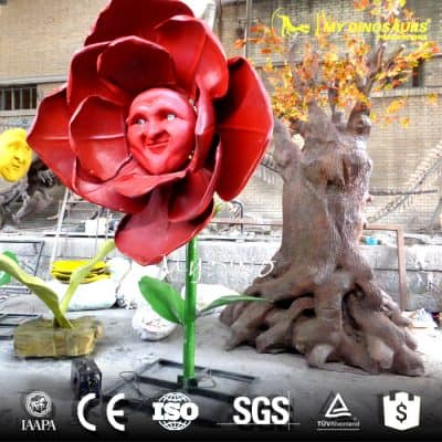 artificial red flower