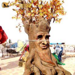 animatronic maple leaf talking tree