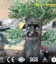 Outdoor Fiberglass Statue Artificial Plants