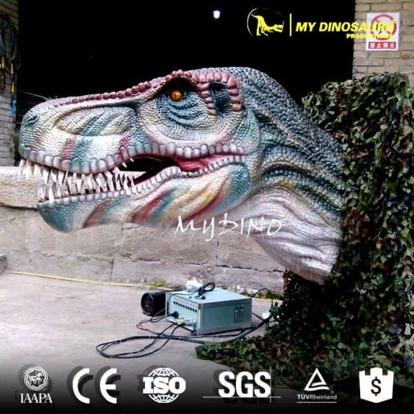animatronic dinosaur head