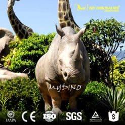 life size rhinoceros statue