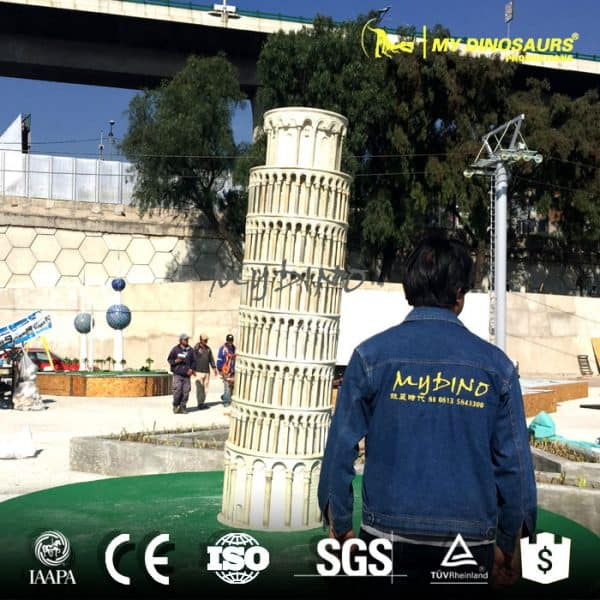 Miniature leaning tower of pisa