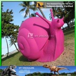 Fiberglass snail statue