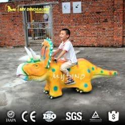 Riding on Dinosaur