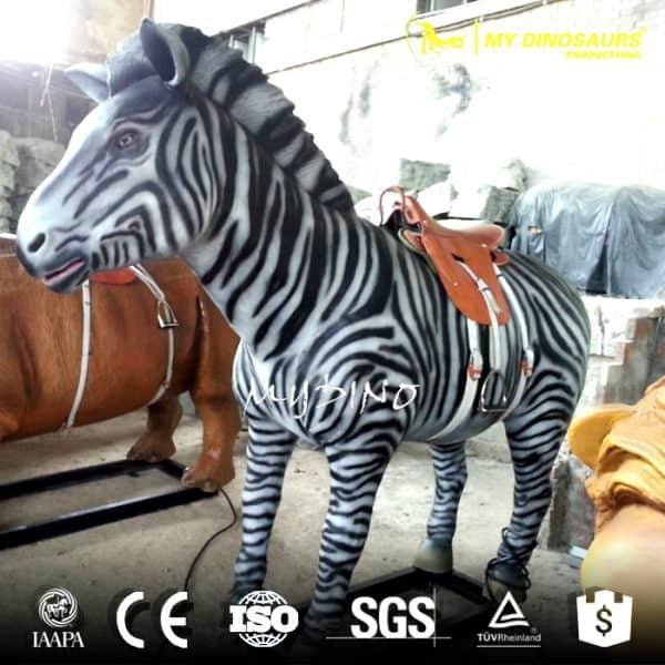 mechanical animatronic zibra ride