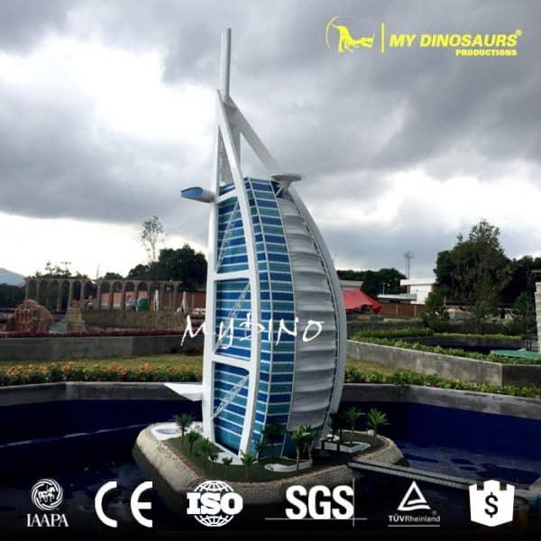 miniature building sculpture