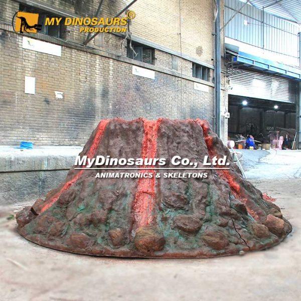 volcano statue