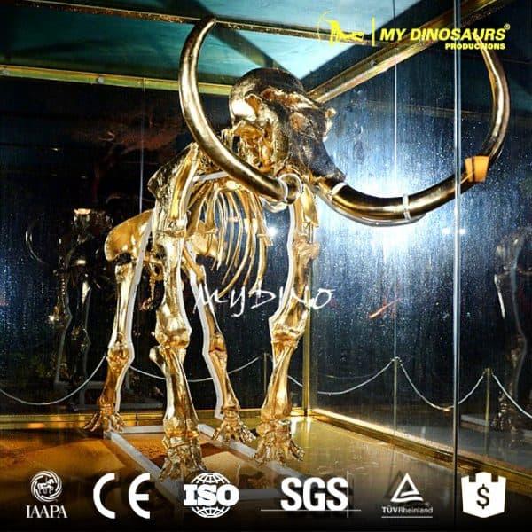 Golden mammoth skeleton