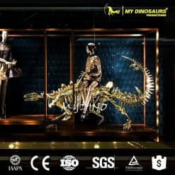 Showcase decoration golden dinosaur skeleton 3