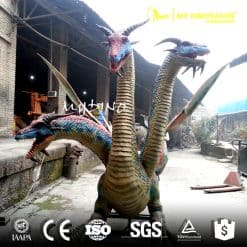outdoor dragon statues