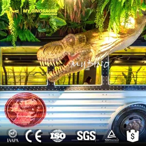Restaurant wall decoration dinosaur head 1