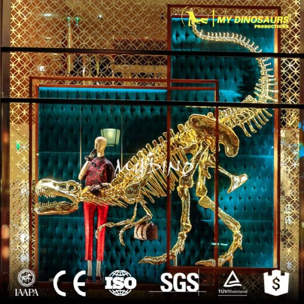 Showcase decoration golden dinosaur skeleton 10