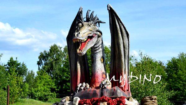 animatronic dragon head