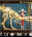 big dinosaur golden skeleton
