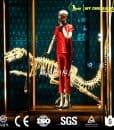 custom big dinosaur golden skeleton