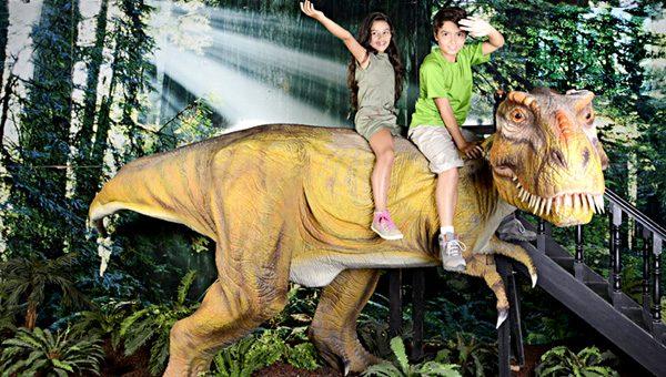 T rex dinosaur rides