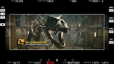 Dinosaur skeleton movie props 1