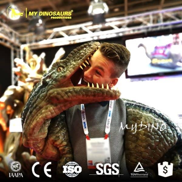 Halloween dinosaur puppet 4