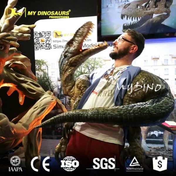 Halloween dinosaur puppet