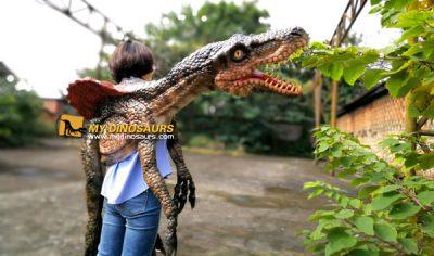 Shoulder across dinosaur puppet