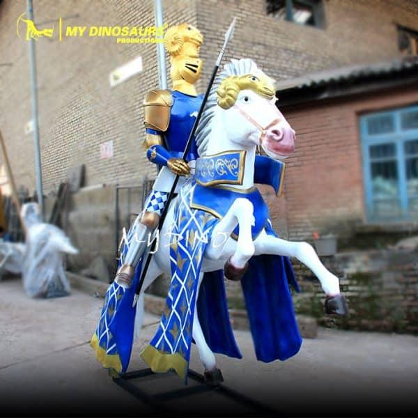 Fiberglass knight statue 1