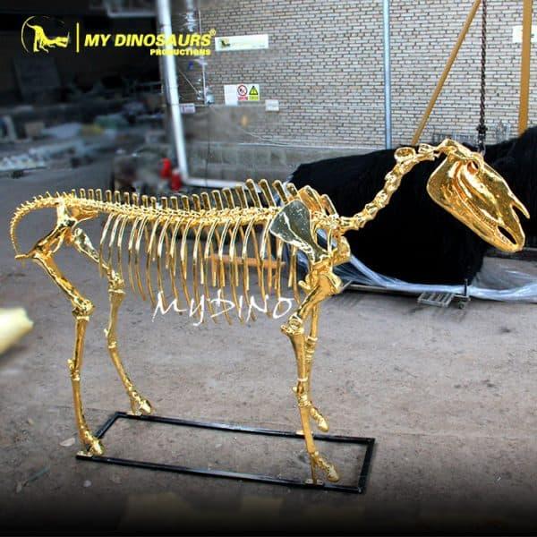 golden horse skeleton