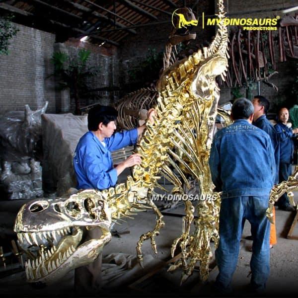 Gold dinosaur skeleton 4