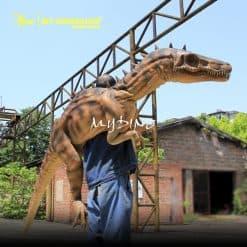 rubber hand puppet dinosaur