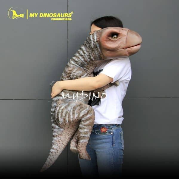 latex dinosaur puppet