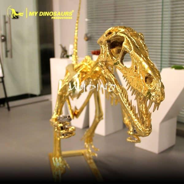 Gold dinosaur skeleton 1