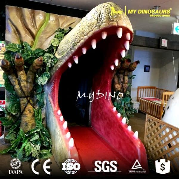 fiberglass dinosaur head decoration