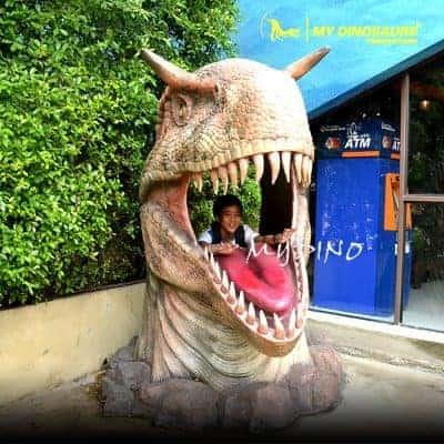 Dinosaur head statue FDF049