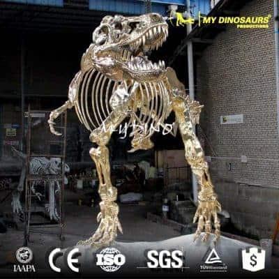 golden dinosaur skeleton DS135