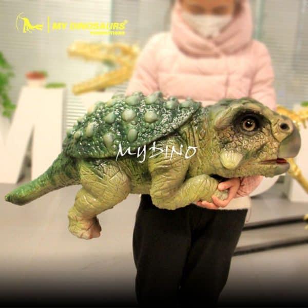 Ankylosaur baby puppet 1