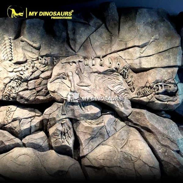 T REX fossil wall 1