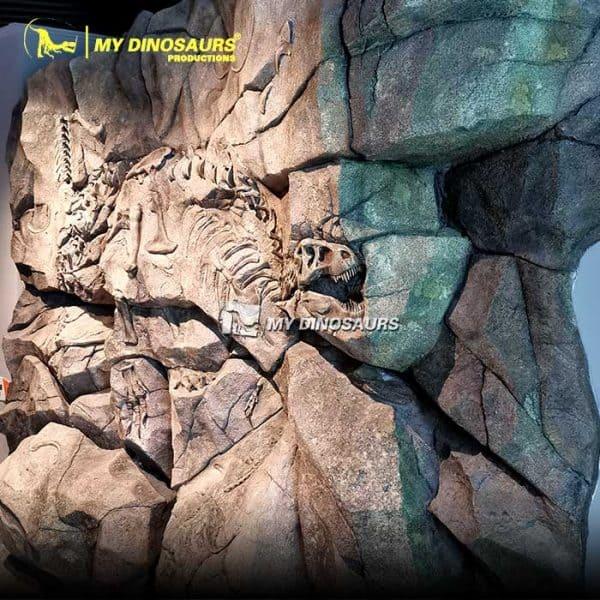T REX fossil wall