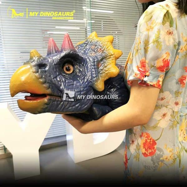 Baby triceratops puppet 2