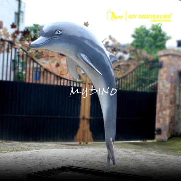 Fiberglass dolphin statue 1