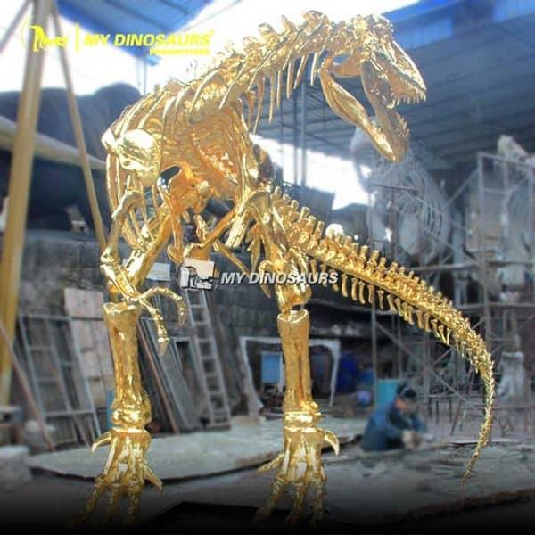 Gold dinosaur skeleton 3