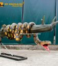 Animatronic snake on the tree