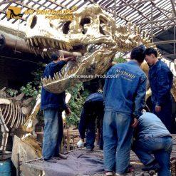 gilded skeleton