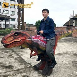 Riding on Dinosaur Costume 1