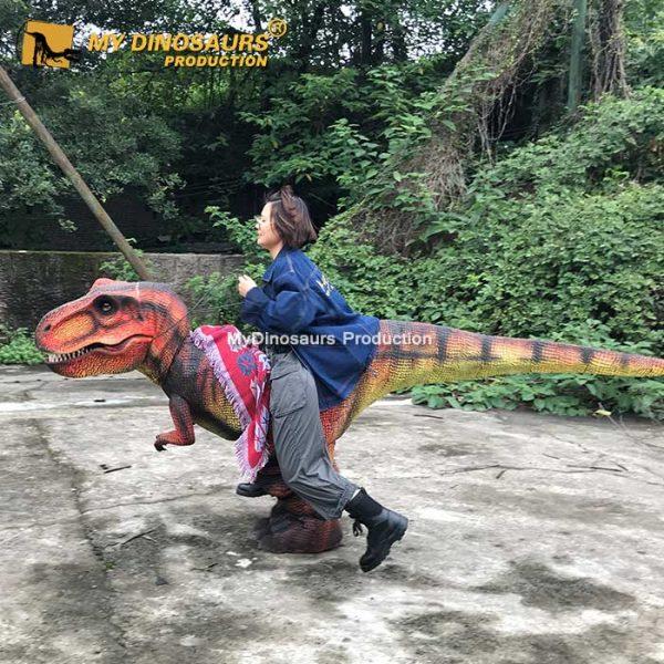 Riding on Dinosaur Costume