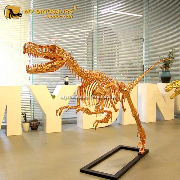 rose gold raptor skeleton
